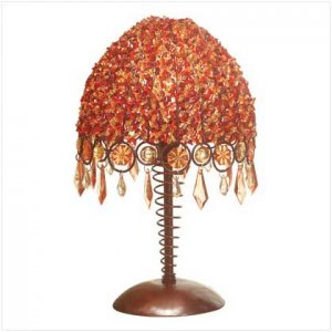 34324 �Autumn Splendor� Beaded Table Lamp