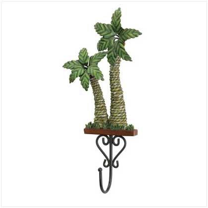 37987 Rattan Styled Palm Tree Wall Hook