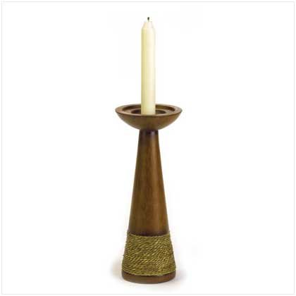 37964 Rope Trimmed Candle Holder