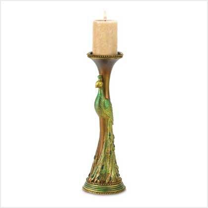 38435 Peacock Candleholder