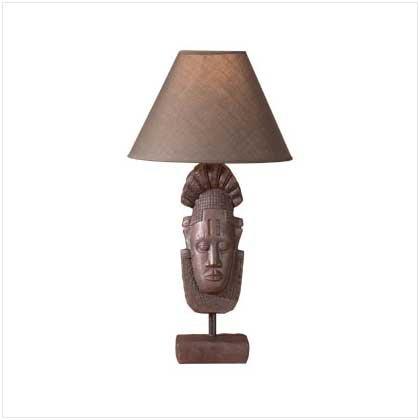 35358 Tribal Mask Lamp