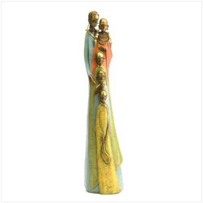 37994 Tribal Family Figurine