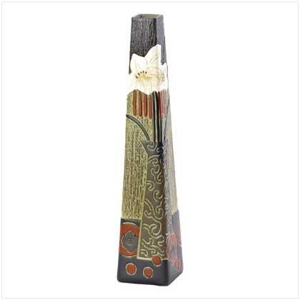38214 Asian Abstract Vase