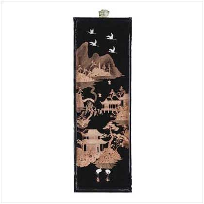 22576 Asian Scenery Wall Sculpture