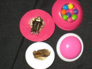 Earrings Vintage in Shades of Pink