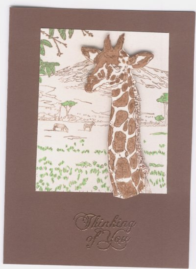 Thinking of You Giraffe