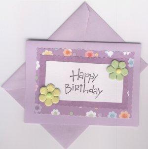 Happy Birthday in Purple