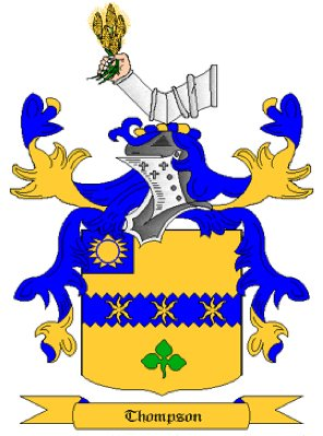 Thompson Coat of Arms in Cross Stitch