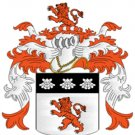 Russell Coat of Arms in Cross Stitch