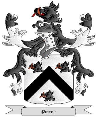Pierce Coat of Arms in Cross Stitch