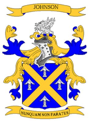 Johnson Coat of Arms in Cross Stitch