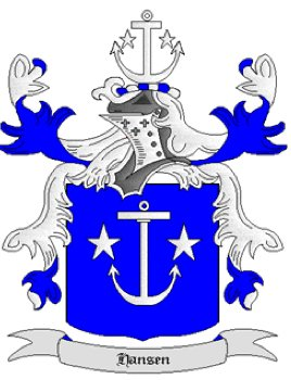 Hansen Coat of Arms in Cross Stitch
