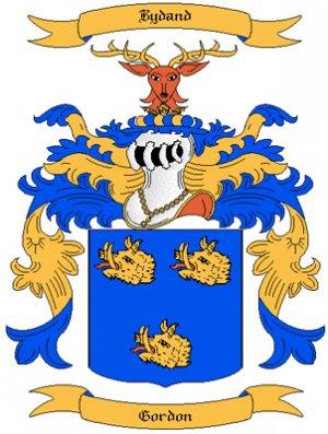 Gordon Coat of Arms in Cross Stitch
