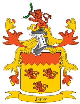 Fisher Coat of Arms in Cross Stitch