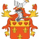 Brown Coat of Arms in Cross Stitch PATTERN CHART FAMILY NAME HERALDRY