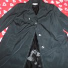 Black Merona trench coat - 2X