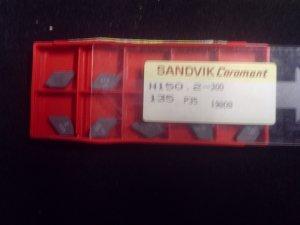 Sandvik N 150 Z-300 Grade 135 P-35 Carbide Inserts