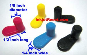 15 Colored Plugs for refilling ink cartridges HP, Epson, Canon, Lexmark