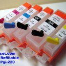 MP560 Refillable Cartridges + CLI-221 Chip RESETTER