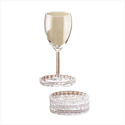 Lady Anne Crystal Coaster Set