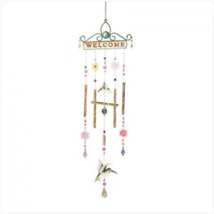 Hummingbird Welcome Windchime