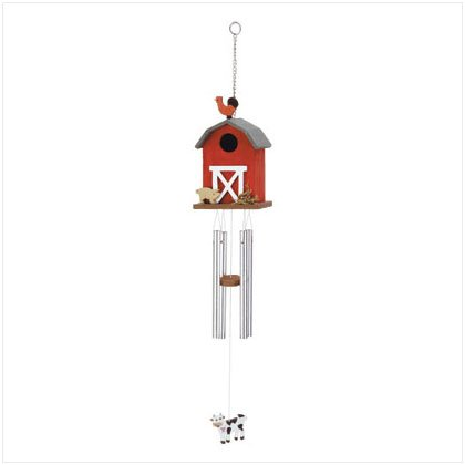 Barn Birdhouse & Chime