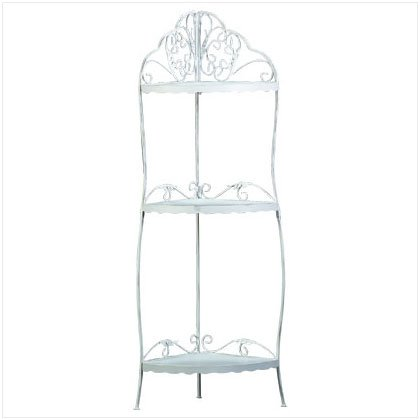White Scrollwork Corner Shelf
