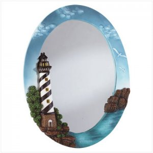 Lighthouse Oval Wall Mirror