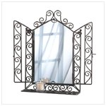 Ornate Wall Mirror With Shelf