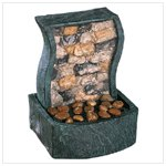 Rock Wall Tabletop Fountain
