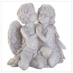 Kissing Cherubim Sculpture