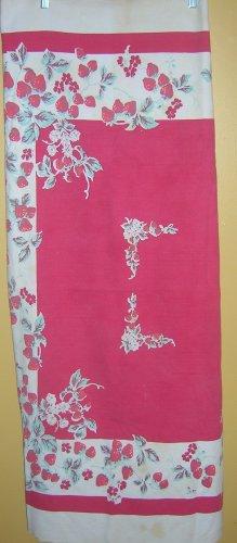 Vintage Strawberry Print Tablecloth