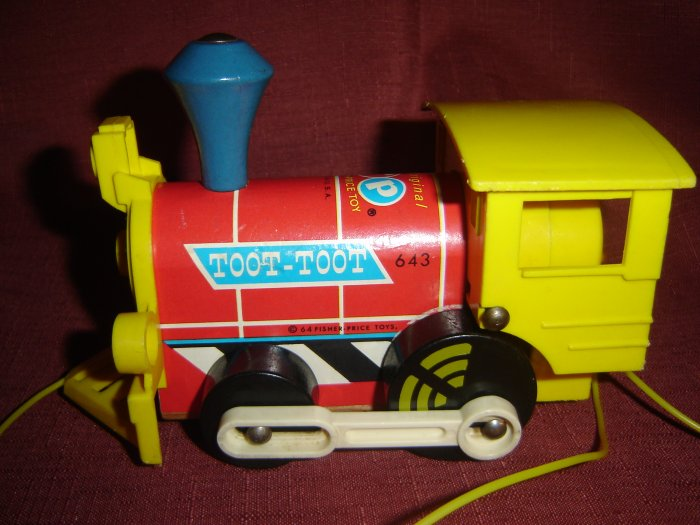 SOLD Vintage Fisher Price Wooden Toot Toot Engine Train Model 643