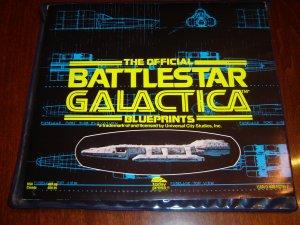 SALE Official Battlestar Galactica Set of Vintage Blueprints from 1978 TV series