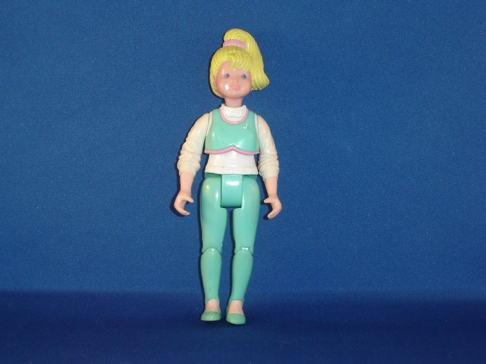 1994 Fisher Price Loving Family Teen Daughter Girl Blond W/ Ponytail & Aqua Green Outfit