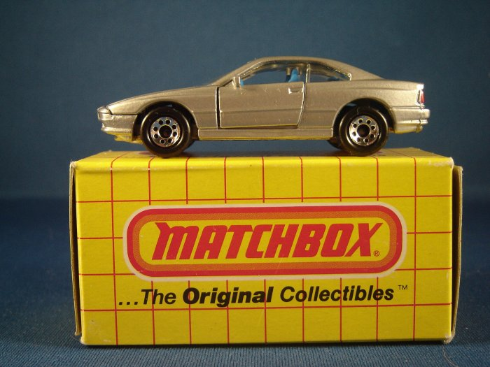 Diecast Matchbox Silver BMW 850 i c.1992
