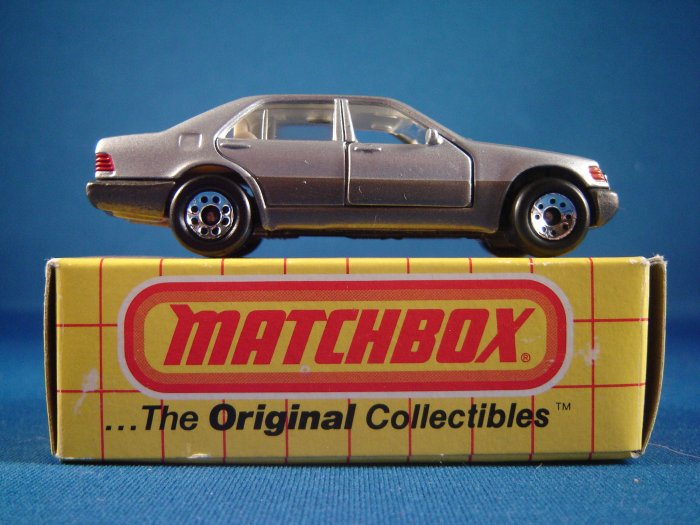 Die cast Matchbox Two Toned Silver and Bronze Mercedes Benz 600SEL c. 1992