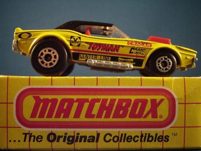 Die Cast Matchbox Superfast series Racing Toyman Dodge Challenger in yellow c. 1975
