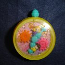Vintage 1994 Polly Pocket Yellow Stop Watch Clock From Bluebird Toys