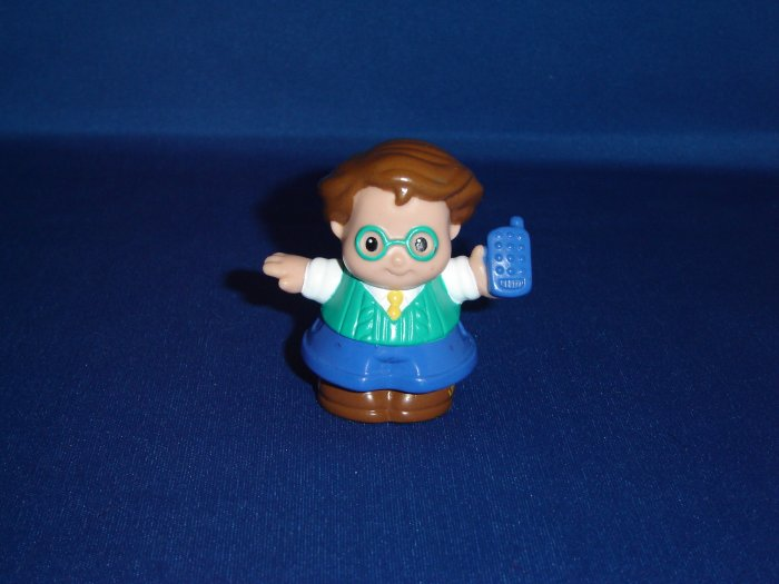 2001 Fisher Price Little People Sweet Sounds Play House Dad Father With Cell Phone Newer FP LP