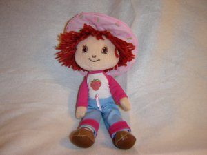 Original 2003 Poseable Plush Strawberry Shortcake Doll By Fraisinette 11 Inches Tall