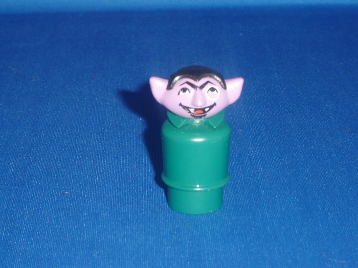 Vintage Fisher Price Little People The Count From The Play Family Sesame Street 938