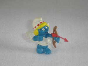 Vintage 1982 Valentine Smurfette With Wings Bow and Arrow 20156 PVC By Schleich From Portugal