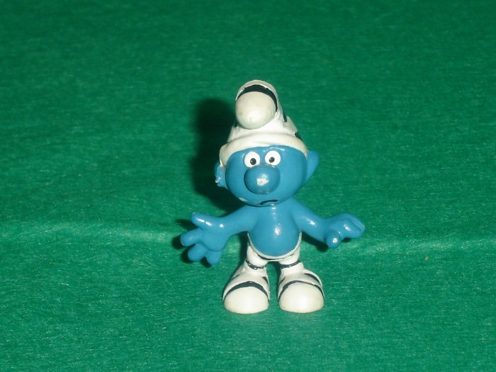 Vintage Smurfs 1965 Prisoner Smurf Wearing Black and White Stripes 20010 Schleich PVC