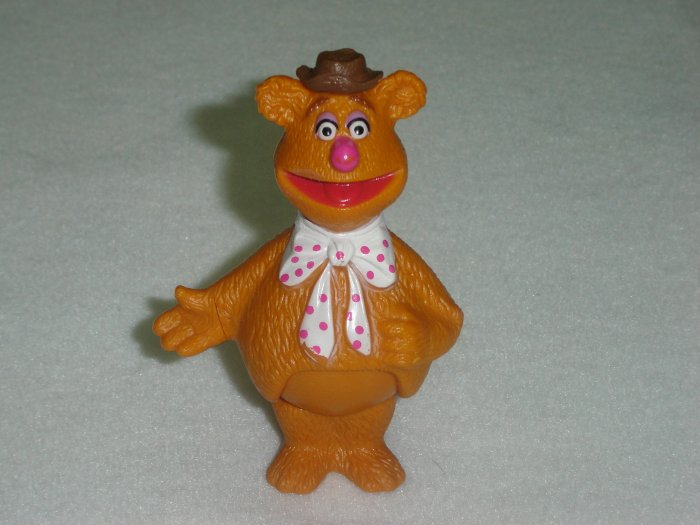 Vintage Fisher Price Muppets FOZZIE BEAR Moveable PVC Figure From Jim Henson Associates 1976 to 1978
