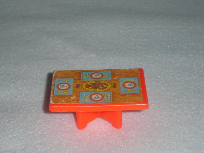 Vintage Fisher Price Little People Play Family Houseboat House Boat Red Lobster Table Model 985 1972