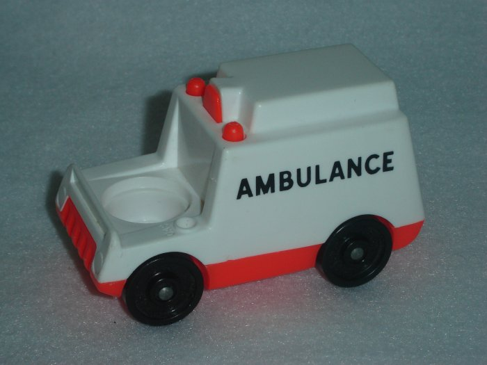 Vintage Fisher Price Little People Play Family Childrens Hospital White Ambulance
