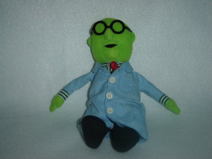 2004 Jim Henson Company Plush Muppets Dr Bunsen Honeydew Doll Figure By Sababa Toys 8 Inches
