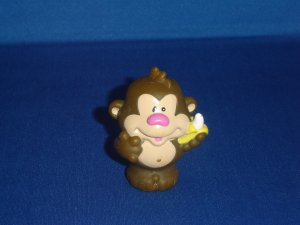 Little Tikes Chunky Toddle Tots Monkey Holding Bananna Great For Zoo