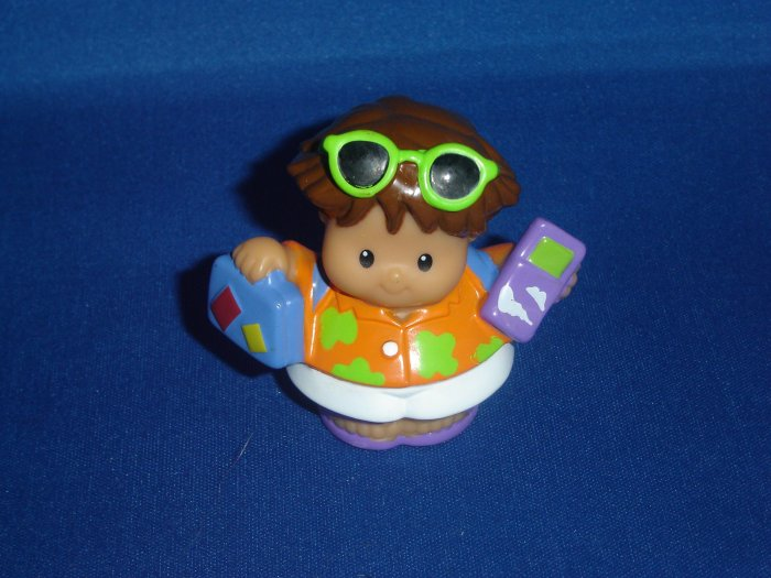 2005 Fisher Price Little People Tourist Vacation Roberto W Suitcase Lil Movers Airplane Newer FP LP